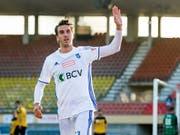 Lausannes Goalgetter Simone Rapp erzielte gegen Schaffhausen das 1:0 (Bild: KEYSTONE/JEAN-CHRISTOPHE BOTT)