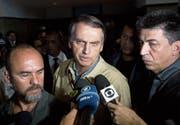 Äusserst umstritten: Präsidentschaftskandidat Jair Bolsonaro. (Bild: Siliva Izquierdo/AP (Rio de Janeiro, 17. Oktober 2018))