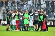 FC St.Gallen: Einheit demonstrieren, und auch in schwierigen Tagen zusammenstehen. (Bild: Freshfocus)