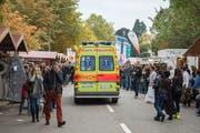 Die Ambulanz wurde in diesem Jahr an der Olma kaum gebraucht: Es gab keine Zwischenfälle mit Schwerverletzten. (Bild: Urs Bucher - 11. Oktober 2015)