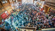 Partystimmung am Unterwaldner Biertag. (Bilder: PD/Thomas Stejskal)