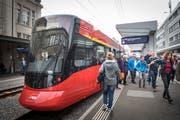Einer der neuen «Tango»-Züge der Appenzeller Bahnen. (Bild: Ralph Ribi)