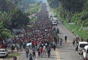 Der Migrantentreck in Mexiko auf dem Weg Richtung USA. (Bild: John Moore/Getty (Ciudad Hidalgo, 21. Oktober 2018))