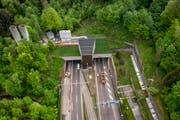 Der Rosenbergtunnel in St. Gallen. (Bild: Benjamin Manser)