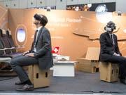 Am jährlich stattfindenden Aktionstag soll der Schweizer Bevölkerung die Digitalisierung näher gebracht werden. (Bild: Keystone/ALEXANDRA WEY)