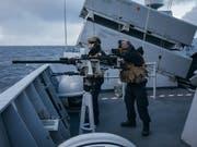 Grösstes Manöver seit dem Kalten Krieg angelaufen: Norwegische Marinesoldaten an der Übung «Trident Juncture 18». (Bild: KEYSTONE/EPA /OD/ NORWEGIAN ARMED FORCES HANDOUT)