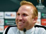 Ludovic Magnin war stolz auf seine Spieler nach dem Sieg gegen Leverkusen (Bild: KEYSTONE/WALTER BIERI)