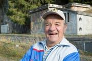 Meinrad Gamma, ein ehemaliger SBB-Angestellter und Zeitzeuge aus Göschenen. (Bild: Christoph Hirtler, Göschenen 2018)