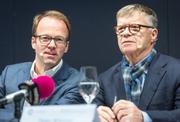 Peter Wanner mit Axel Wüstmann, dem CEO von CH Media, dem Joint Venture der AZ Medien und der NZZ Regionalmedien. (Bild: Chris Iseli)