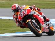 War in dieser Saison oft Sturzopfer: Marc Marquez, seit letztem Sonntag fünffacher MotoGP-Weltmeister (Bild: KEYSTONE/EPA AAP/DAVID CROSLING)
