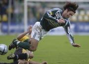 Ein unermüdlicher Kämpfer: Pascal Jenny absolvierte insgesamt 142 Spiele für den FC St.Gallen. (Bild: Michel Canonica/17. Oktober 2004)
