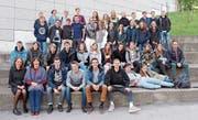 Die Schülerinnen und Schüler aus Trogen zusammen mit der belgischen Klasse. (Bild: PD)