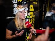 Lara Gut im Interview vor dem Weltcup-Auftakt in Sölden (Bild: KEYSTONE/GIAN EHRENZELLER)