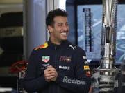 Daniel Ricciardo hat gut lachen nach seiner 3. Pole-Position seiner Karriere (Bild: KEYSTONE/EPA EFE/JOSE MENDEZ)