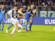 Cristiano Ronaldo führt Juventus mit einer Doublette gegen Aufsteiger Empoli zum Sieg (Bild: KEYSTONE/EPA ANSA/FABIO MUZZI)