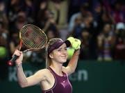 Jelina Switolina bezwang im Halbfinal der WTA Finals in Singapur die Niederländerin Kiki Bertens in drei Sätzen (Bild: KEYSTONE/EPA/WALLACE WOON)