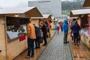 An diesem Wochenende wurde der Klostergarten zum Käsemarkt. (Bild: Claudio Weder)