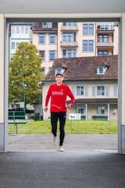 Trainingsstart vor der Luzerner Stadtverwaltung (Eveline Beerkircher, 24. Oktober 2018)