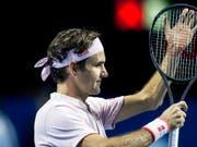 Roger Federer ist in Basel bereits das 9. Mal das Mass der Dinge (Bild: KEYSTONE/ALEXANDRA WEY)