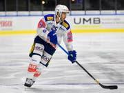 Thibaut Monnet und seine Teamkollegen in Kloten haben die Gewissheit: Man kann in der Swiss League noch gewinnen (Bild: KEYSTONE/GIAN EHRENZELLER)