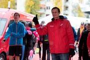 Zufrieden im Zielgelände: Marathon-OK-Präsident Jost Huwyler. ((Bild: Corinne Glanzmann (Luzern, 28. Oktober 2018))