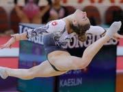 Ilaria Kaeslin verzeichnete als einzige Schweizerin in der Qualifikation einen Sturz (Bild: KEYSTONE/AP/VADIM GHIRDA)