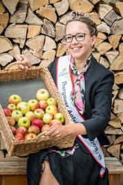 Die amtierenden Apfelkönigin Melanie Maurer kommt aus Sulgen. (Bild: Andrea Stalder)