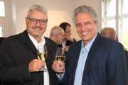 Jürg Schalter übergibt nach 25 Jahren das Präsidium der Stiftung Seemuseum an Markus Thalmann. (Bild: Barbara Hettich)