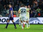 Nach seinem Treffer in der Europa League ist Michael Frey auch in der türkischen Meisterschaft erfolgreich (Bild: KEYSTONE/EPA/STEPHANIE LECOCQ)