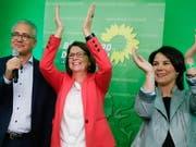 Die Grünen gehören zu den Gewinnern der Landtagswahl im deutschen Bundesland Hessen. Das Wahlergebnis erhöht den Druck auf die Parteien in Berlin. (Foto: Ronald Wittek/EPA) (Bild: KEYSTONE/EPA/RONALD WITTEK)