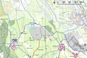 Richtplankarte Gebiet Hatwil/Hubletzen