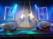 Akrobatik und Choreographie gehören zum Programm. (Bild: Erwin Schönenberger)