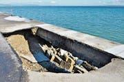 Im Mai rutschte die Uferböschung erneut ab. (Bild: Max Eichenberger)