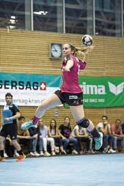 Eine der noch wenigen Routiniers: Topskorerin Pascale Wyder. (Bild: Manuela Jans-Koch (Nottwil, 17. Mai 2018)