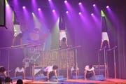 Die Darbietungen des TV Oberschan waren turnerisch und akrobatisch beeindruckend. (Bild: Bianca Helbling)