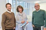 Sie präsentierten das Budget: Martin Thalmann, Regina Hiller und Feliciano Gervasi.(Bild: Donato Caspari)
