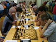 So sah es am Luzerner Open im letzten Jahr statt: Schachspieler bei der Arbeit. (PD)