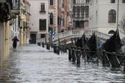70 Prozent von Venedig wurde geflutet. (Bild: EPA/ANDREA MEROLA)
