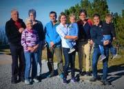 Guido, Maria, Elisabeth und Hansrolf Sutter haben jahrzehntelang Gäste auf der Ebenalp bewirtet und übergeben nun die Verantwortung an Samara, Annelies und Sepp Kölbener (von links). Bild: PD