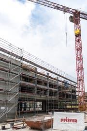 St.Gallen glänzt im Schnitt der zehn grössten Schweizer Städte mit dem schnellsten Baubewilligungsverfahren. Im Bild der Neubau an der Ulmenstrasse in der Lachen. (Bild: Sabrina Stübi - 23. April 2018)