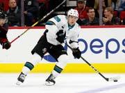Timo Meier ist in der NHL derzeit nicht zu stoppen (Bild: KEYSTONE/FR27582 AP/CHRIS SEWARD)