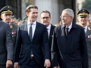 Wollen dem Uno-Migrationspakt nicht beitreten: Österreichs Kanzler Sebastian Kurz (links) und sein Vize Heinz-Christian Strache. (Bild: KEYSTONE/AP/RONALD ZAK)