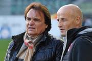Peter Zeidler, heute FC-St.Gallen-Trainer, im Dezember 2016 mit Christian Constantin. (Bild: Steffen Schmidt/Freshfocus)