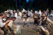 Szene aus dem Stück «Stadt der Vögel», das zuletzt auf Tribschen aufgeführt wurde. (Bild: Nadia Schärli (Luzern, 13. Juni 2017))
