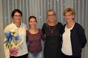 Von links: Karin Eggimann, Denise Stöckli, Annalise Russi und Christine Inderkum. (Bild: Georg Epp, Altdorf, 3. Oktober 2018)