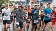 Nach dem Passieren St.Margrethens haben die Sportler zwei Drittel der Strecke geschafft. (Bild: pd)