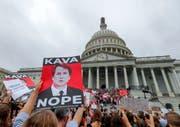 Trotz Demonnstrationen wurde Brett Kavanaugh Richter am obersten Gerichtshof. (Bild: Keystone)