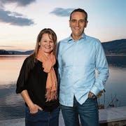 Evelyn Rust und Beat Wyss werden die CVP neu im Oberägerer Gemeinderat vertreten. (Bild: Christian H. Hildebrand (Morgarten, 7. Oktober 2018))