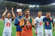 Wer erhält künftig den Vorzug? Die FCL-Torhüter Mirko Salvi (links) und David Zibung. (Bild: Freshfocus (Genf, 15. September 2018))