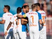 Die Grasshoppers können gegen Lugano wieder jubeln (Bild: KEYSTONE/ENNIO LEANZA)